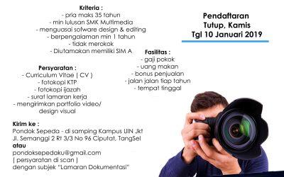 Lowongan Kerja Dokumentasi Pondok Sepeda (PT Meruri Citra Indonesia)