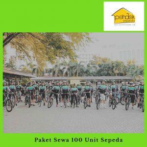 Paket Sewa 100 Unit Sepeda
