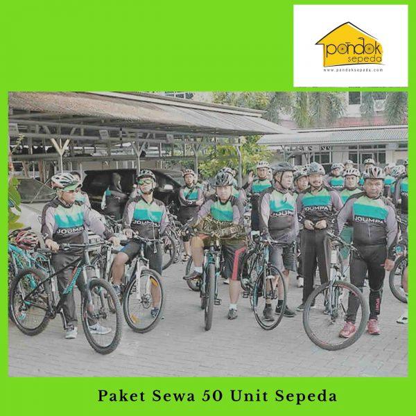 Paket Sewa 50 Unit Sepeda